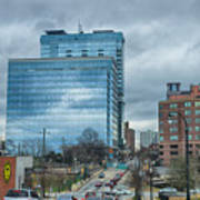 Atlanta Downtown Skyline Scenes In January On Cloudy Day Poster