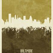 Baltimore Maryland Skyline Poster