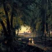 Forest Path Near Spandau Poster