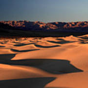 Mesquite Sand Dunes In Death Valley National Park Poster