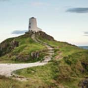 Stunning Summer Landscape Image Of Lighthouse On End Of Headland Poster