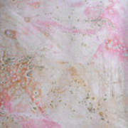 11. V2 Pink And Cream Texture Glaze Painting Poster