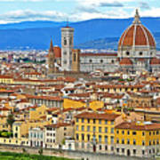 1167 Florence Italy Panorama Poster