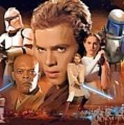 Galaxies Star Wars Art Poster