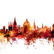 Oxford England Skyline Poster