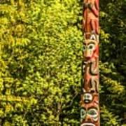 Totems Art And Carvings At Saxman Village In Ketchikan Alaska Poster
