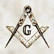 Ancient Freemasonic Symbolism By Pierre Blanchard Poster