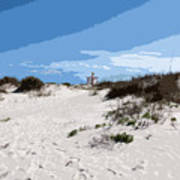 Jetty Park On Cape Canaveral In Florida Poster