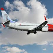 Norwegian Boeing 737-8jp Poster