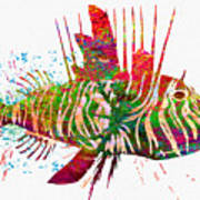 Underwater. Fish. Poster