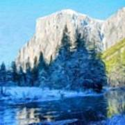 Nature Original Landscape Painting Poster