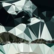 Abstract Art Landscape Of Triangles Poster