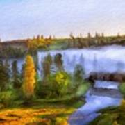 Nature Landscape Oil Painting For Sale Poster