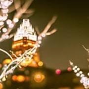 Christmas Lights Holiday Decorations Around Charlotte North Caro Poster