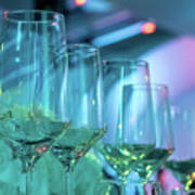 Party Setting With Colorful Bokeh Background Poster
