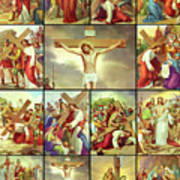 14 Stations Of The Cross Poster