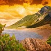Nature Scenery Oil Paintings On Canvas Poster
