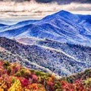 Autumn Season On Blue Ridge Parkway Poster