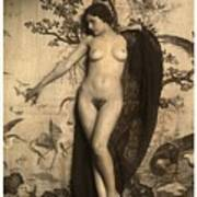 Digital Ode To Vintage Nude By Mb Poster