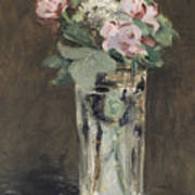 Flowers In A Crystal Vase Poster