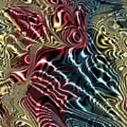 Fractal Modern Art Seamless Generated Texture Poster
