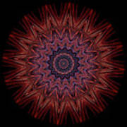 Kaleidoscope Image Created From Light Trails Poster
