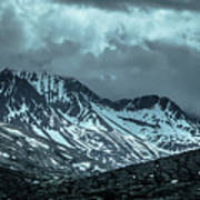Rocky Mountains Nature Scenes On Alaska British Columbia Border Poster