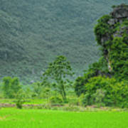 The Beautiful Karst Rural Scenery Poster