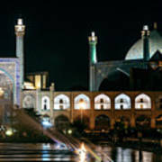 The Shah Mosque Famous Landmark In Isfahan City Iran Poster