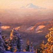 Nature Art Original Landscape Paintings Poster