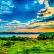 Nature Oil Painting Landscape Images Poster