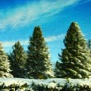 Nature Art Original Landscape Paintings Poster
