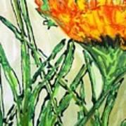 Digital Flower Painting Poster