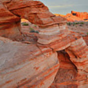 First Light On Valley Of Fire Poster