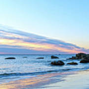 Rocky Daybreak Seascape Poster