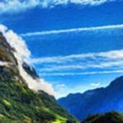 Oil Painting Landscape Pictures Poster