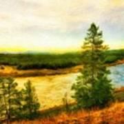 Nature Painted Landscape Poster
