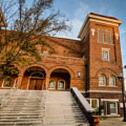16th Street Baptist Church Steps In Birmingham Alabama Poster