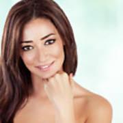 Beautiful Woman At Spa Poster