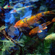 The Koi Pond Poster