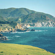 Western Usa Pacific Coast In California Poster