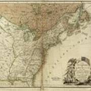 1783 United States Of America Map Poster