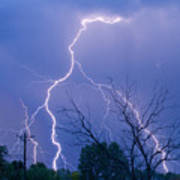 17th Street Lightning Strike Fine Art Photo Poster