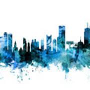 Boston Massachusetts Skyline Poster
