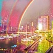 Docklands Double Rainbow Poster