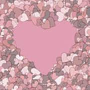 Love Heart Valentine Shape Poster