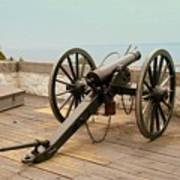 1841 Model Six Pounder Cannon At Fort Mackinac Poster