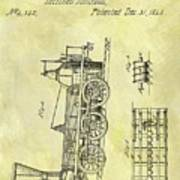 1845 Locomotive Patent Poster