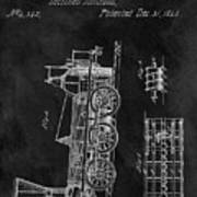 1845 Railroad Patent Poster