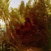 1856-57 Pan Amongst The Reeds Arnold Bcklin Poster